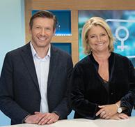 Fabien Doguet et Marina Carrère d'Encausse, présentateurs du magazine de la santé sur France 5