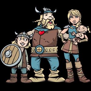 La famille viking : mascotte des normands ont du cœur